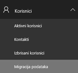 Nadzorna ploča za migraciju podataka