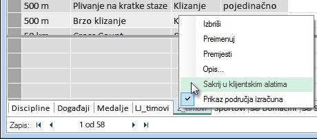 skrivanje tablica iz klijentskih alata programa Excel