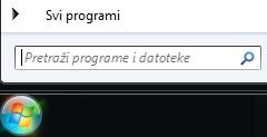 Snimka zaslona pretraživanja programa