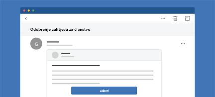 Prikaz poruke programa Outlook