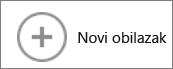 Gumb Novi obilazak u galeriji karata