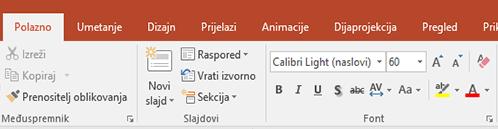 prikazuje alat za isticanje teksta na vrpci u programu PowerPoint