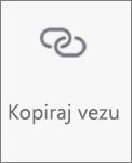 Gumb Kopiraj vezu na servisu OneDrive za Android