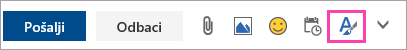 Snimka zaslona s gumbom mogućnosti oblikovanja