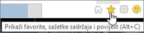 Gumb feed u pregledniku Internet Explorer