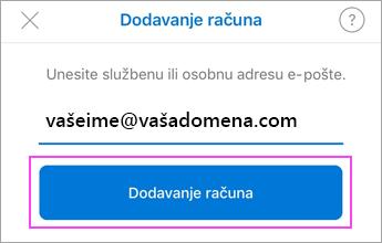 Unesite adresu e-pošte