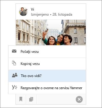 Zajedničko korištenje dokumenta sa servisa Delve