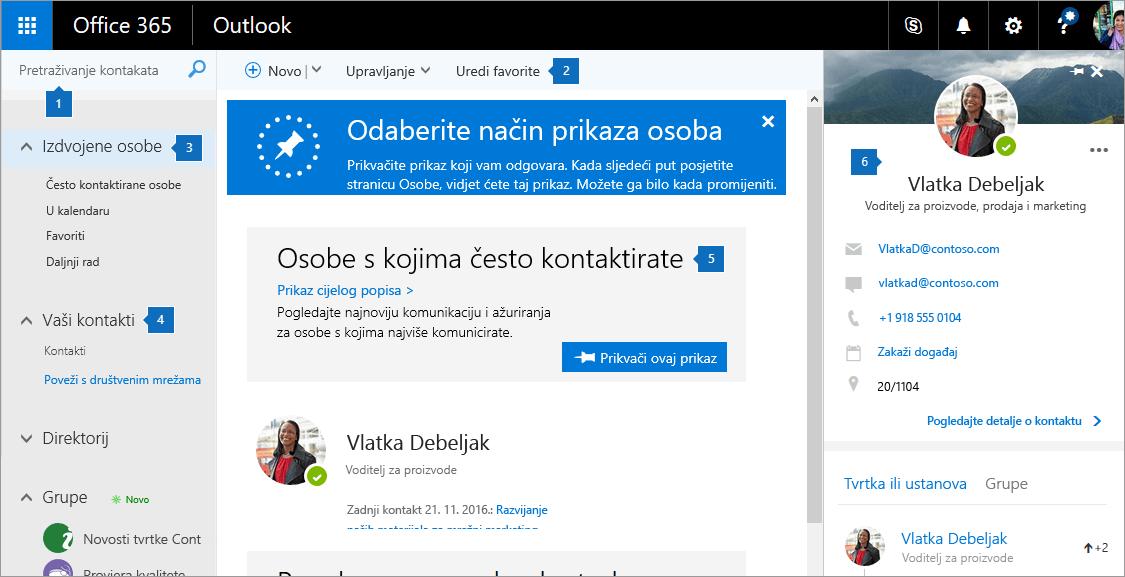 Snimka zaslona stranice osobe.
