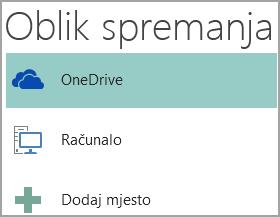 Snimka zaslona mogućnosti Spremi kao u programu Publisher.