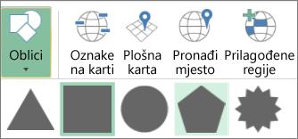 Mogućnost Oblici na 3D kartama
