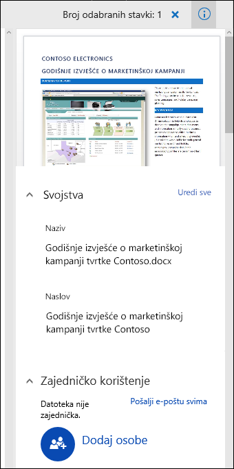 Office 365 Document Metadata Panel