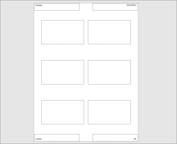 Pokazuje matricu brošura u programu PowerPoint