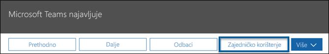 Snimka zaslona centra za poruke objavljuju Akcijska traka