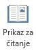 Prikaz za čitanje pogodan je za čitanje prezentacije programa PowerPoint na cijelom zaslonu kada nema izlagača.