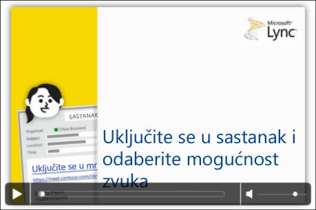 Snimka zaslona slajda programa PowerPoint s kontrolama videozapisa