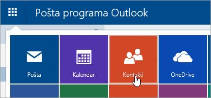 Snimka zaslona s osobama pločica u pokretaču aplikacija.