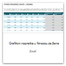 Odaberite tu mogućnost da biste dobili predložak grafikona napretka tjelovježbe za žene.