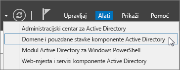 Odaberite konzolu Active Directory Domains and Trusts.