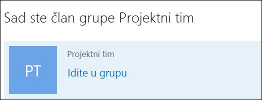 Pridruživanje grupi u sustavu Outlook