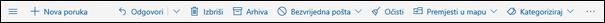 Alatna traka poruke na servisu Outlook.com
