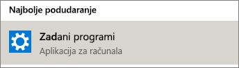 Zadani programi u sustavu Windows