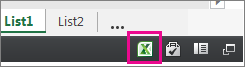 Ikona programa Excel u programu Excel Online