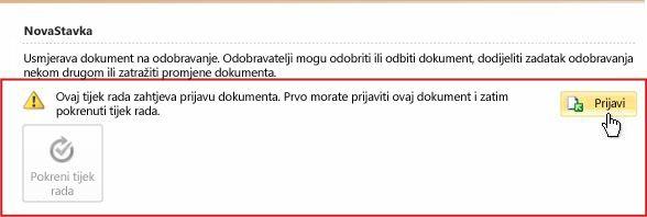 Snimka zaslona dijaloškog okvira zahtjeva za razgovor izravnim porukama