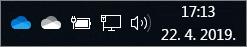 Klijent za sinkronizaciju sa servisom OneDrive s plavom i bijelom ikonom oblaka