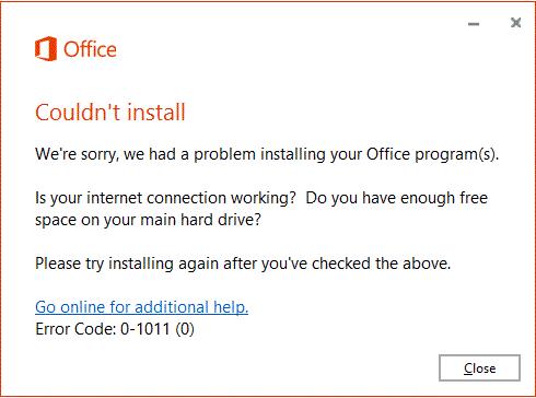 Nije moguće instalirati poruku