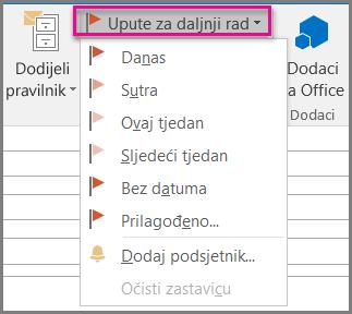 Obilježi poruku e-pošte zastavicom