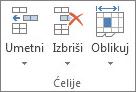 Grupa Ćelije na kartici Polazno