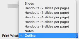 U okviru što ispisati, odaberite kontura