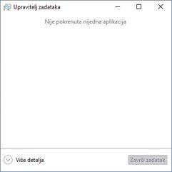 Otvaranje upravitelja zadataka u sustavu Windows 10