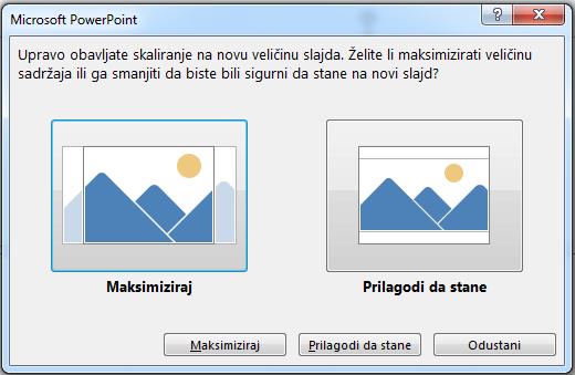 Ako se odlučite za maksimizaciju, možda će dio sadržaja dospjeti izvan margina za ispis, kao što možete vidjeti na slici lijevo.
