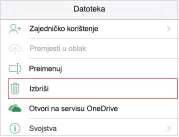 Brisanje datoteke
