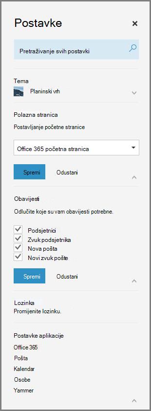 Obavijesti sustava Office 365