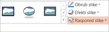 Prikazuje gumb izgled na kartici Oblikovanje