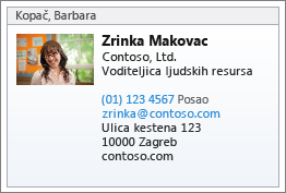 vCard kontakta