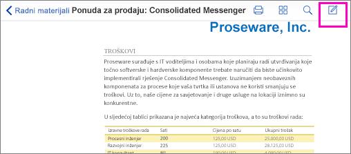 Alat za obilježja u PDF-u