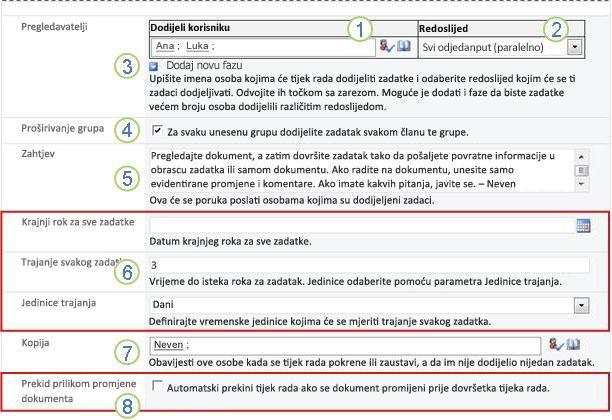 Druga stranica obrasca za pridruživanje s oblačićima s brojevima