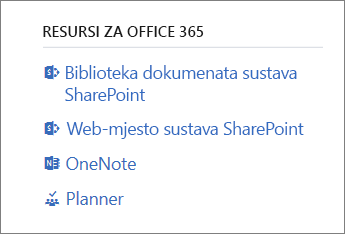 Resursi za Office 365