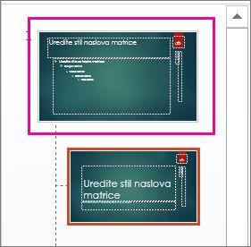 Minijatura matrice slajdova u prikazu matrice slajdova