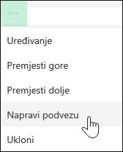 Provjerite vezu na sub veza na lijevom izborniku