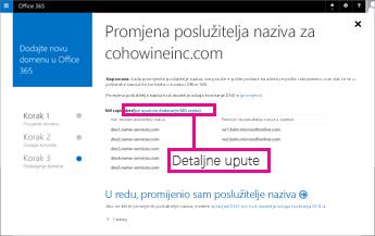 U sustavu Office 365 kliknite detaljne upute da biste vidjeli dodatne informacije