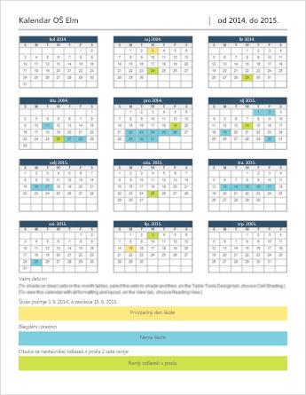 Predložak kalendara