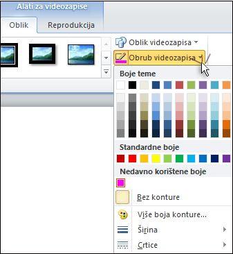 Promjena boje videozapisa