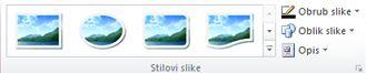 Grupa Stilovi slika na kartici Alati za slike u programu Publisher 2010