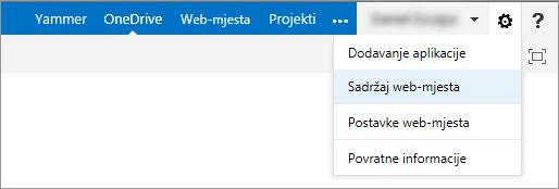 Sadržaj web-mjesta.