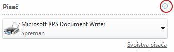 Stanje pisača u programu Publisher