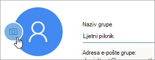 Snimka zaslona s ikonom fotoaparata